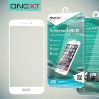 OneXT Защитное стекло для Huawei Honor 8 lite / P8 lite (2017) на весь экран - Белый