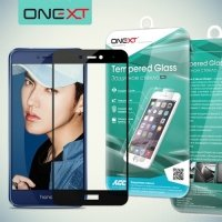 OneXT Защитное стекло для Huawei Honor 8 lite / P8 lite (2017) на весь экран - Черный