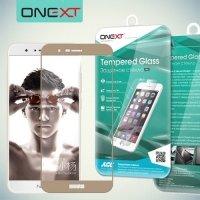 OneXT Защитное стекло для Huawei Honor 8 Pro на весь экран - Золотой