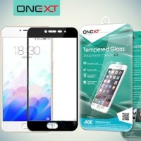 OneXT Защитное стекло для Meizu m3s mini на весь экран - Черный