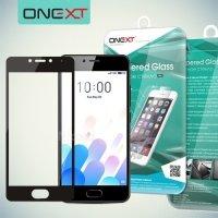 OneXT Защитное стекло для Meizu M5c на весь экран - Черный