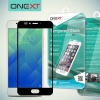 OneXT Защитное стекло для Meizu M5s на весь экран - Черный