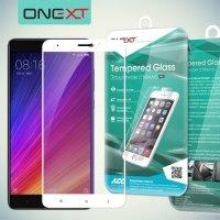 OneXT Защитное стекло для Xiaomi Mi 5s Plus на весь экран - Белый
