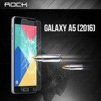 Противоударное закаленное стекло ROCK на Samsung Galaxy A5 2016 9H 0.3мм 2.5D