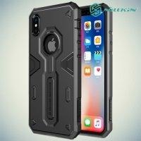 Противоударный чехол NILLKIN Defender II для iPhone X - Черный