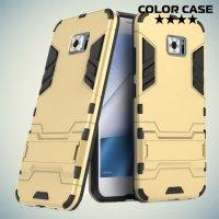 Противоударный гибридный чехол для Asus Zenfone 4V V520KL - Золотой