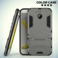 Противоударный гибридный чехол для HTC 10 evo - Серый