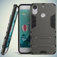 Противоударный гибридный чехол для HTC Desire 10 pro - Серый