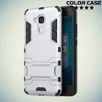 Противоударный гибридный чехол для Huawei Honor 5C - Серебряный