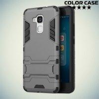 Противоударный гибридный чехол для Huawei Honor 5C - Серый