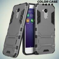 Противоударный гибридный чехол для Huawei Honor 6A - Серый