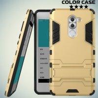 Противоударный гибридный чехол для Huawei Honor 6x - Золотой