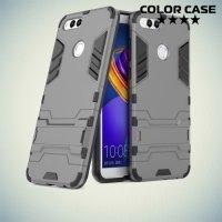 Противоударный гибридный чехол для Huawei Honor 7X - Серый