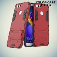 Противоударный гибридный чехол для Huawei Honor 7X - Красный