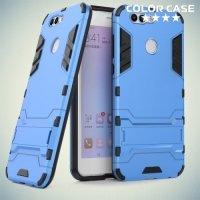 Противоударный гибридный чехол для Huawei nova 2 Plus - Голубой