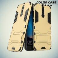Противоударный гибридный чехол для Huawei Nova 2i - Золотой