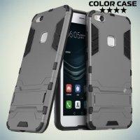 Противоударный гибридный чехол для Huawei P10 Lite - Серый