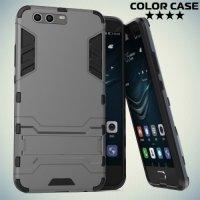 Противоударный гибридный чехол для Huawei P10 Plus - Серый