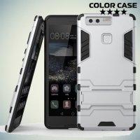 Противоударный гибридный чехол для Huawei P9 - Серебряный