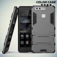 Противоударный гибридный чехол для Huawei P9 - Серый
