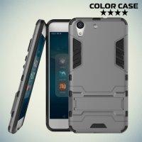 Противоударный гибридный чехол для Huawei Y6 II  - Серый