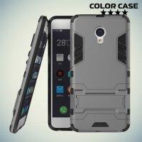 Противоударный гибридный чехол для Meizu M3E  - Серый