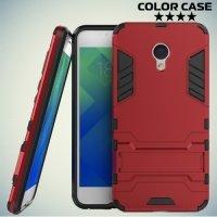 Противоударный гибридный чехол для Meizu M5 - Красный