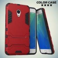 Противоударный гибридный чехол для Meizu M5s - Красный