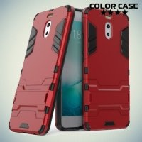 Противоударный гибридный чехол для Meizu M6 Note - Красный
