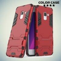 Противоударный гибридный чехол для Samsung Galaxy A5 2018 SM-A530F - Красный