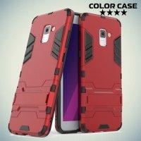 Противоударный гибридный чехол для Samsung Galaxy A7 2018 SM-A730F - Красный