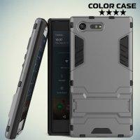Тонкий противоударный чехол для Sony Xperia X Compact - Серый