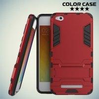 Противоударный гибридный чехол для Xiaomi Redmi 4A - Красный