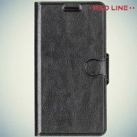 Red Line чехол книжка для Lenovo A6010 / A6010 Plus  - Черный