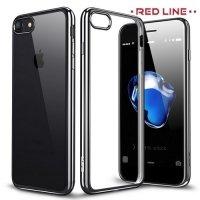 Red Line iBox Blaze силиконовый чехол для iPhone 8/7  с металлизированными краями - Черный