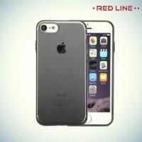 Red Line силиконовый чехол для iPhone 8/7 - Полупрозрачный черный