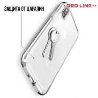 Red Line силиконовый чехол для iPhone X - Прозрачный