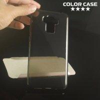 Силиконовый чехол для Asus ZenFone 3 Max ZC553KL  - Глянцевый Полупрозрачный черный