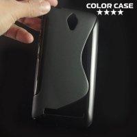 Силиконовый чехол для ASUS ZenFone Go ZC451TG - S-образный Черный
