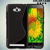 Силиконовый чехол для ASUS ZenFone Max ZC550KL - S-образный Черный