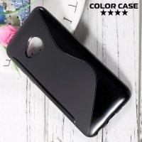 Силиконовый чехол для HTC U Play - S-образный Черный