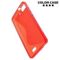 Силиконовый чехол для Huawei Honor 4C - S-образный Красный