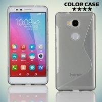 Силиконовый чехол для Huawei Honor 5X - S-образный Серый