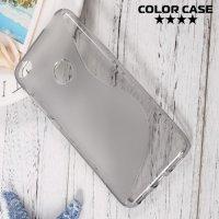 Силиконовый чехол для Huawei Honor 8 lite - S-образный Серый