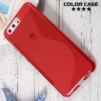 Силиконовый чехол для Huawei P10 - S-образный Красный