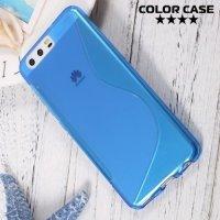 Силиконовый чехол для Huawei P10 - S-образный Синий