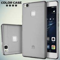 Тонкий силиконовый чехол для Huawei P9 lite - Серый