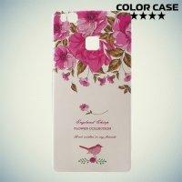 Силиконовый чехол для Huawei P9 lite - с рисунком Цветы