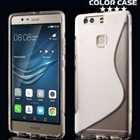 Силиконовый чехол для Huawei P9 Plus - S-образный Прозрачный
