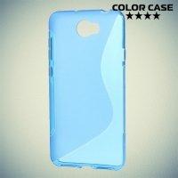 Силиконовый чехол для Huawei Honor 5A / Y5 II - S-образный Синий
